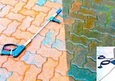 Čištění a impregnace zámkové dlažby 02