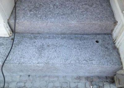 Čištění kamenných schodů 02