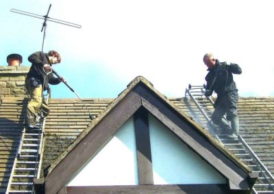 Výškové čištění střech 06