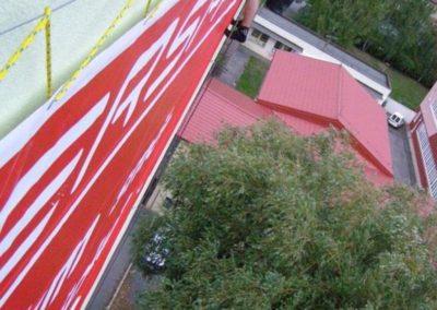 Výškové instalce dekorací a billboardů 04