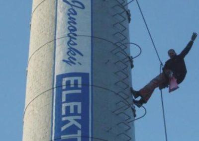 Výškové instalce dekorací a billboardů 08