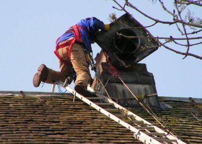 Výškové opravy komínů 04